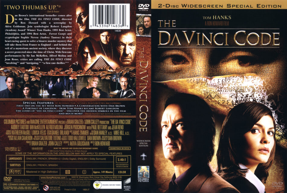 The Davinci Code Dvd Cover 2006 R1