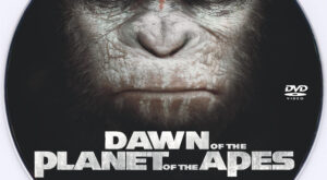 Dawn of the Planet of the Apes dvd label