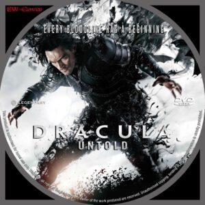 Dracula Untold dvd label