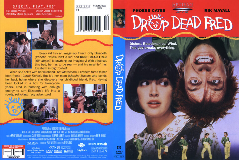 Drop Dead Fred dvd cover
