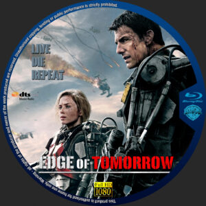 free blu-ray dvd label for Edge of Tomorrow