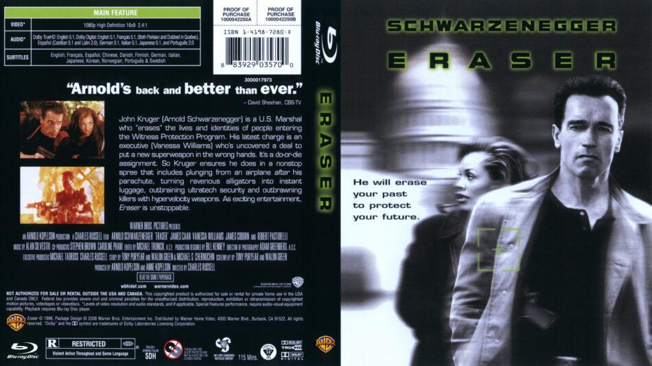 Eraser (Blu-ray) dvd cover