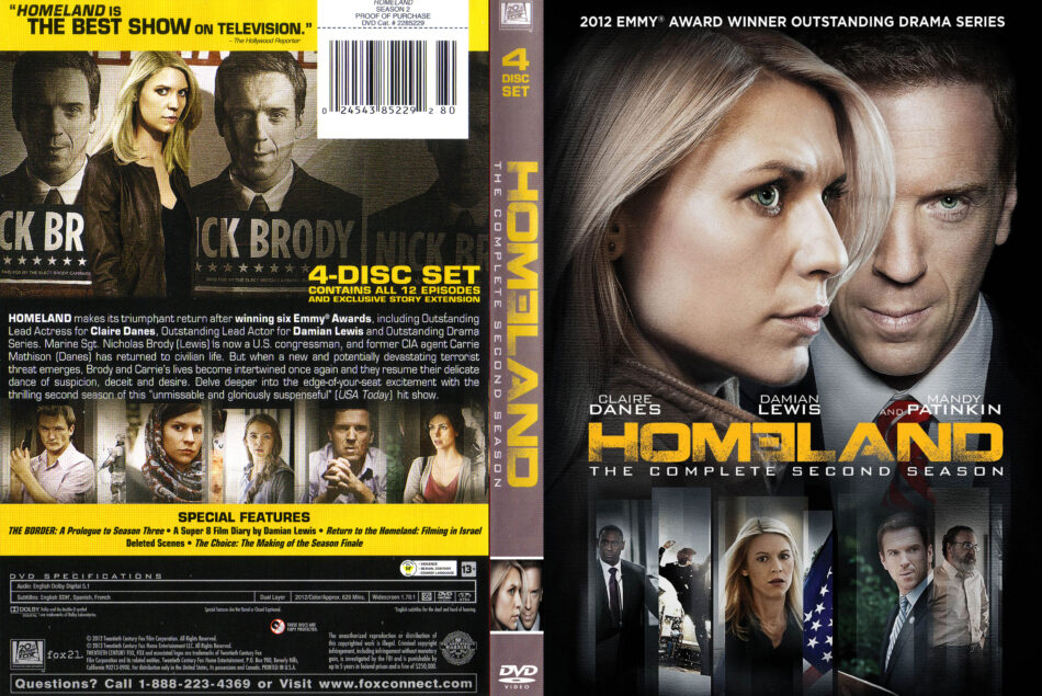 homeland season 2 dvd cover