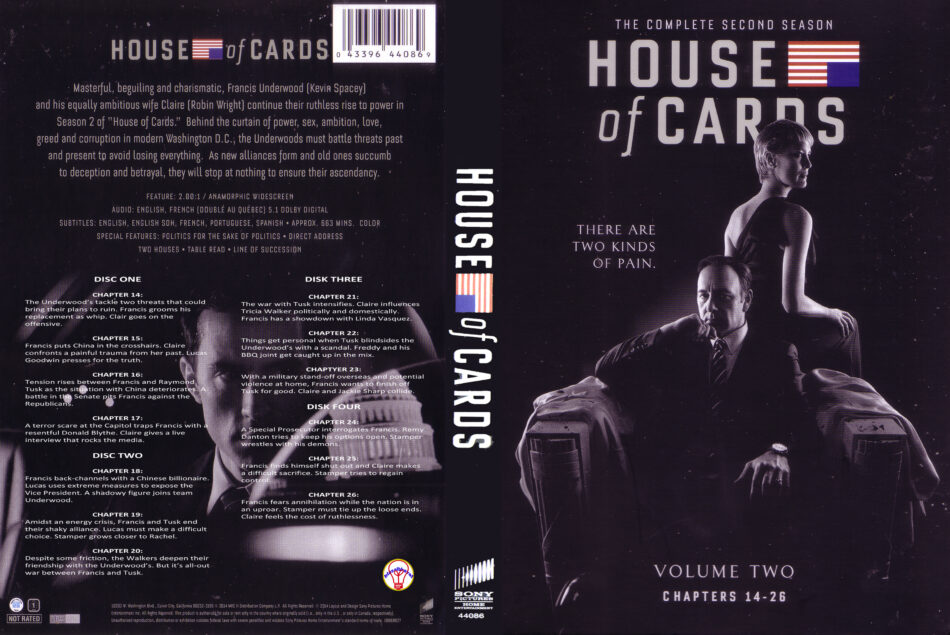 House of Cards season 2 dvd cover