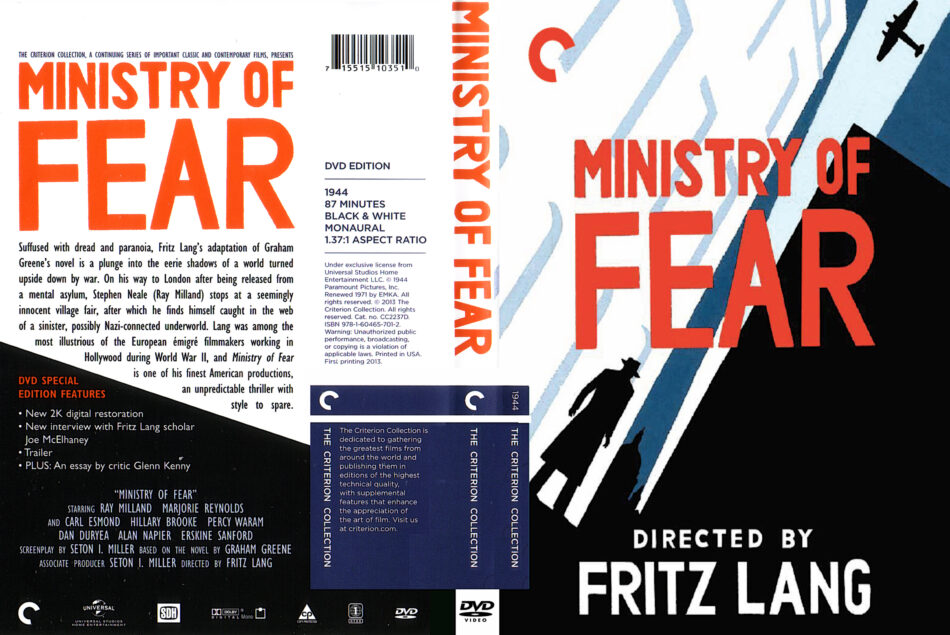 ministry of fear dvd cover