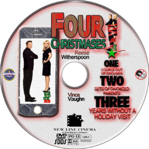 Four Christmases dvd label