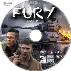 Fury dvd label