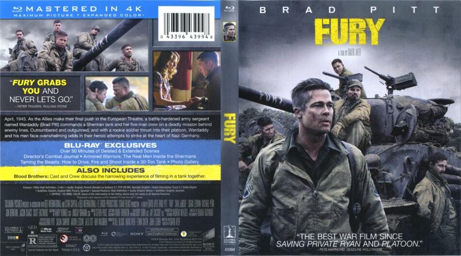 Fury blu-ray dvd cover