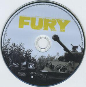 Fury blu-ray dvd label