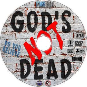 God's Not Dead dvd label
