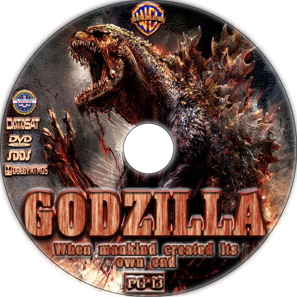 Godzilla dvd label