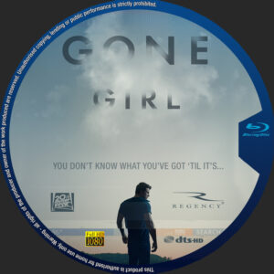 Gone Girl blu-ray dvd label