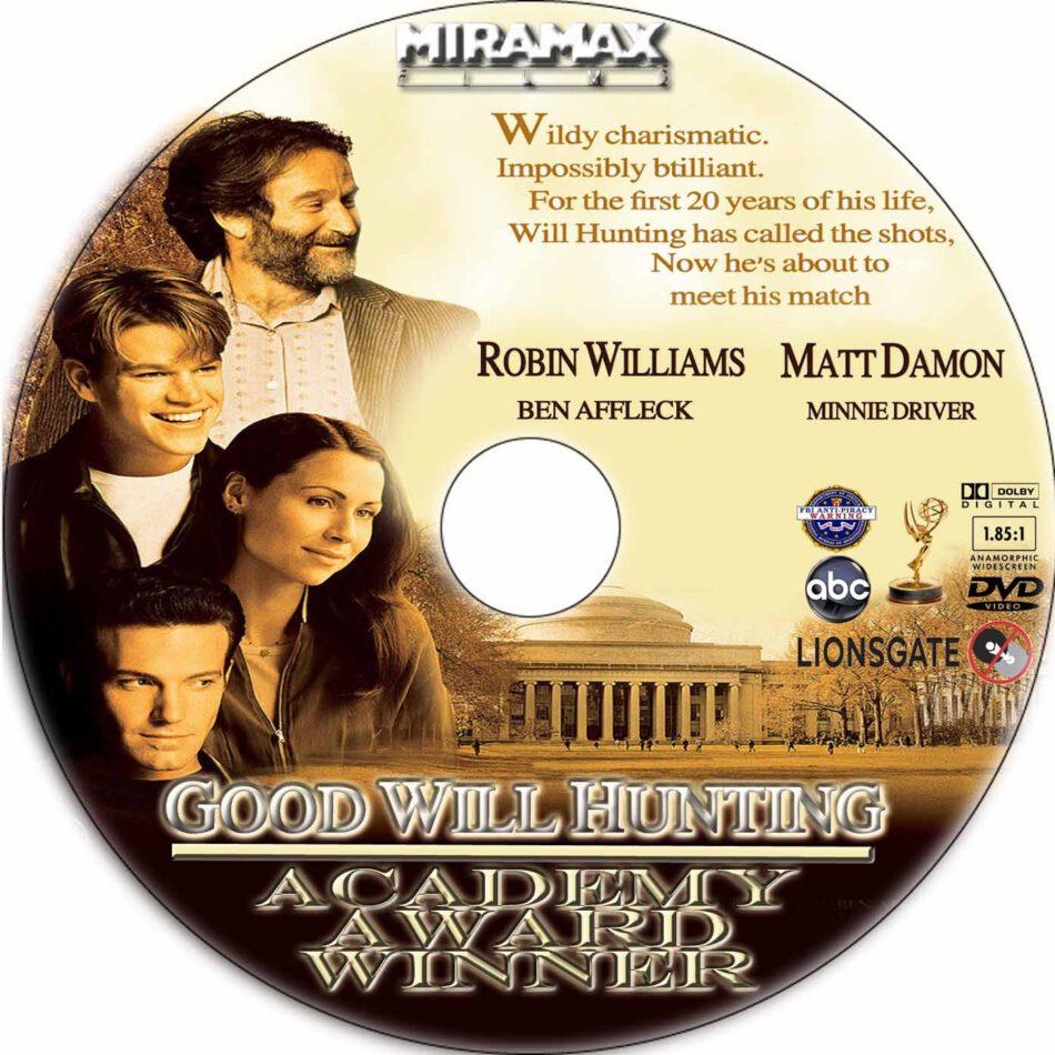 Good Will Hunting Dvd Label 1997 R1 Custom Art