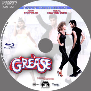 Grease (Blu-ray) Label