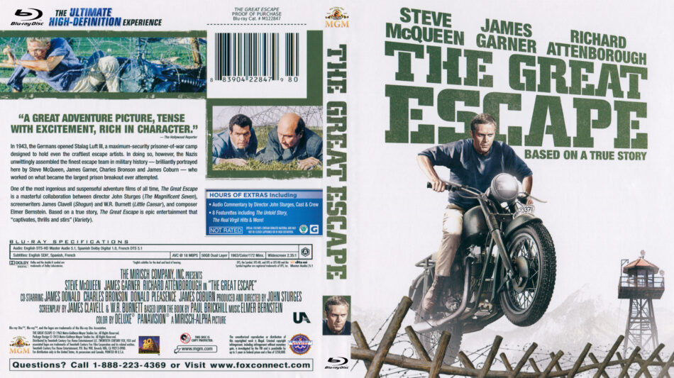 Great Escape, The (Blu-ray) dvd cover