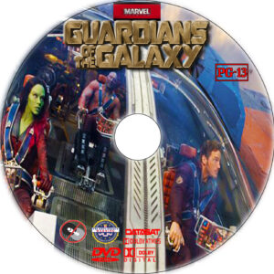 Guardians of the Galaxy dvd label
