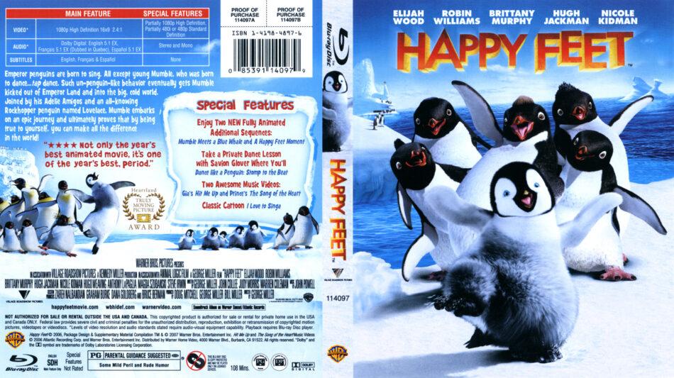 Happy Feet (Blu-ray) dvd cover