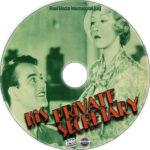 His Private Secretary (1933) R1 Custom DVD Label