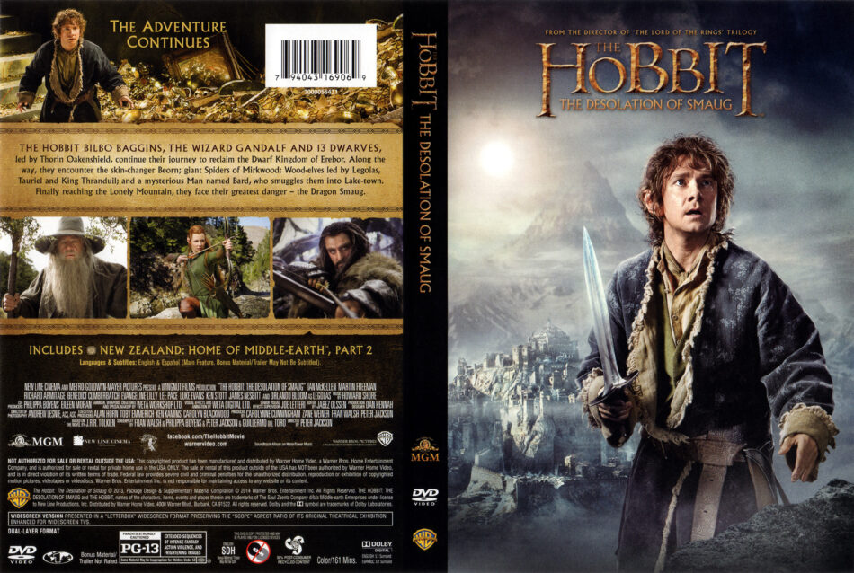 The Hobbit The Desolation Of Smaug Dvd Cover 2013 R1