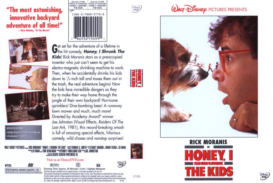 Honey, I Shrunk the Kids dvd cover