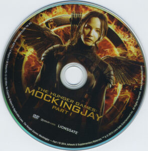 The Hunger Games: Mockingjay - Part 1 blu-ray dvd label