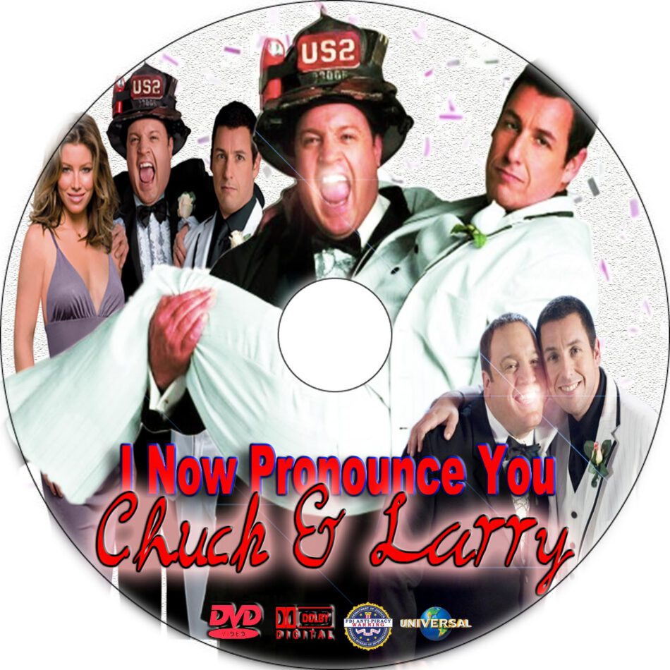 I Now Pronounce You Chuck Larry Dvd Label 2007 R1 Custom