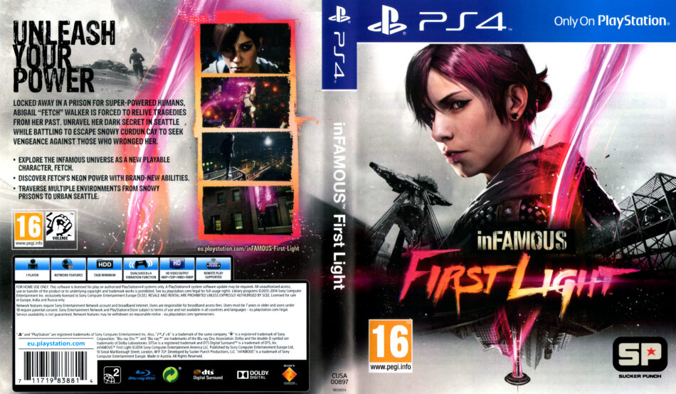 inFAMOUS - First Light dvd cover