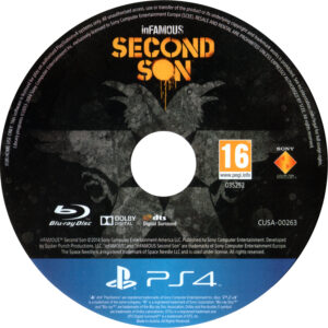 Infamous Second Son PAL CD Cover
