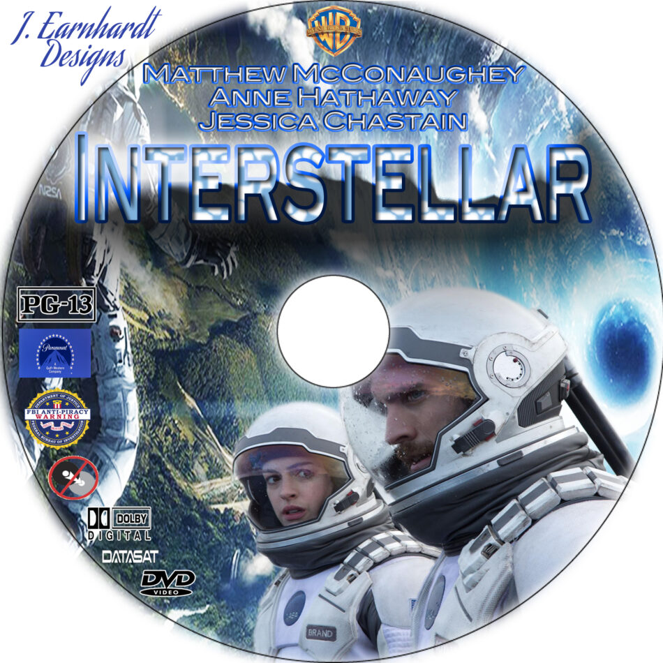 Interstellar dvd label