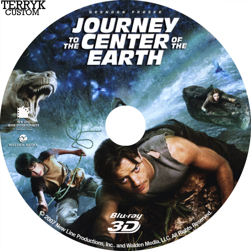 Journey to the Center of the Earth (Blu-ray) 3D Label