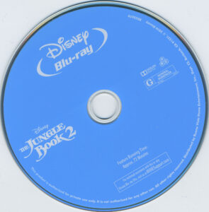 The Jungle Book 2 dvd label