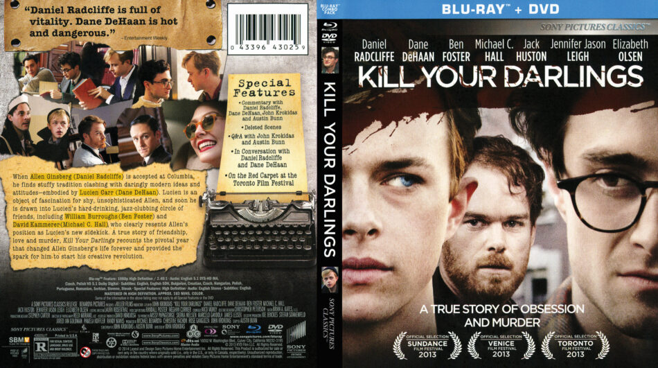 Kill Your Darlings blu-ray dvd cover
