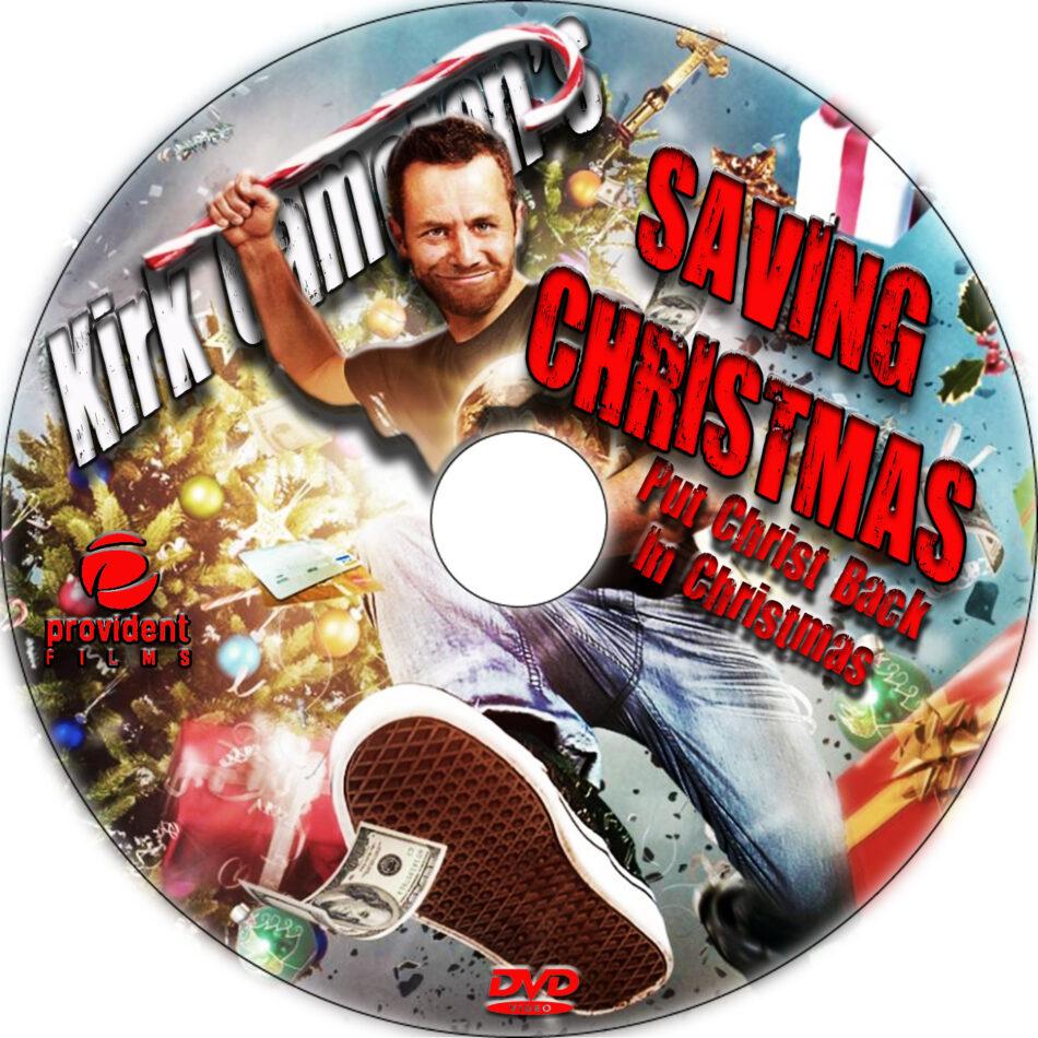 Saving Christmas dvd label