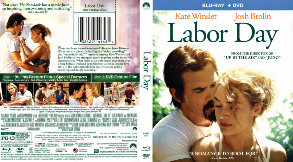 Labor Day blu-ray cover