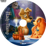 Lady and the Tramp (1955) Custom Blu-Ray DVD Label