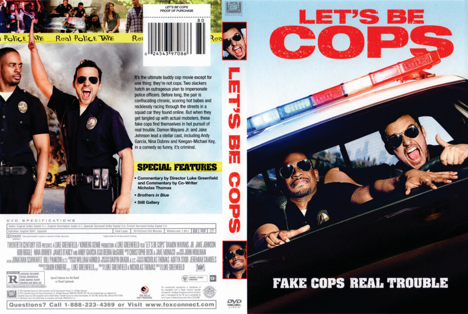Let's Be Cops dvd cover