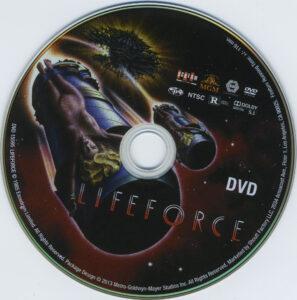 Lifeforce dvd label
