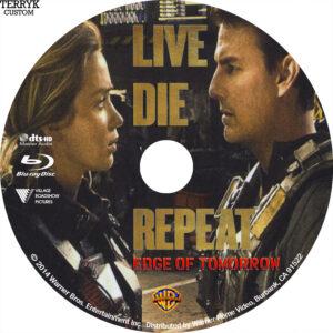 Live, Die, Repeat (Blu-ray) Label
