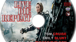 Live Die Repeat: Edge of Tomorrow dvd label
