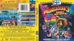Madagascar 3 (Blu-ray) 3D dvd cover