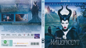 Maleficent  3D (Blu-ray) dvd cover