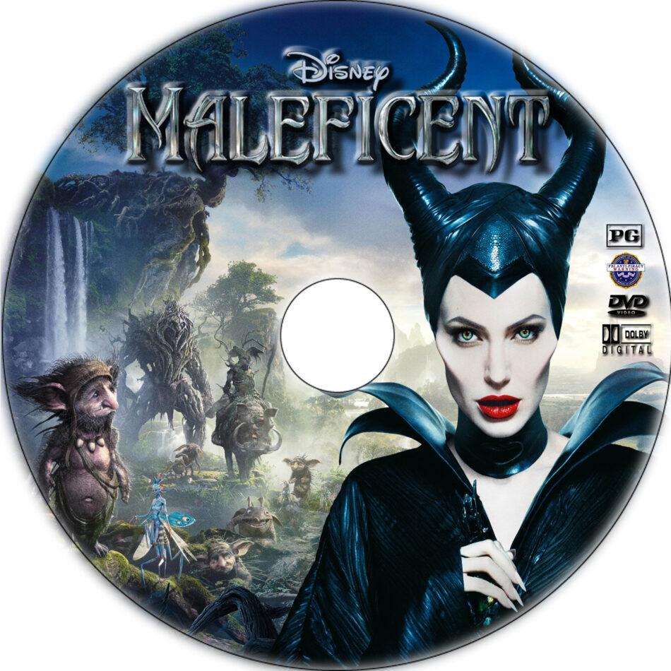 maleficent dvd label