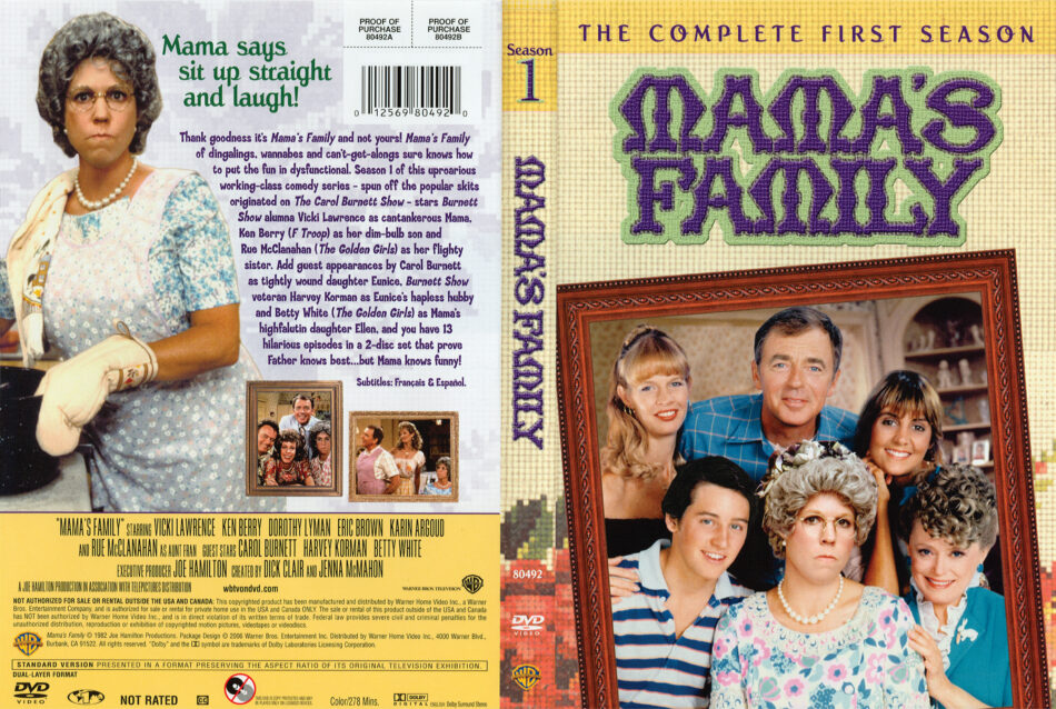Mama's Family season 1 dvd cover