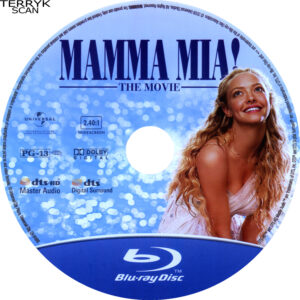 Mamma Mia (Blu-ray) Label