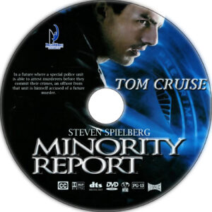 Minority Report dvd label