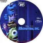 Monsters, INC. 3D (2001) Custom Blu-Ray DVD Label