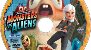 Monsters vs. Aliens dvd label
