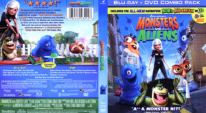 Monsters VS Aliens (Blu-ray) dvd cover