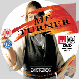 Mr Turner dvd disc