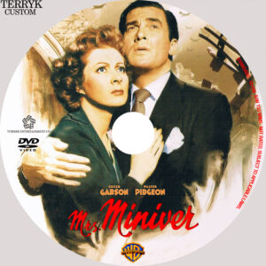 Mrs Miniver dvd Label